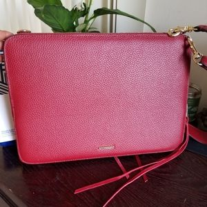 New Rebecca minkoff red sleeve leather  laptop